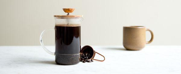 Hario Olive Wood Tea & Coffee Press