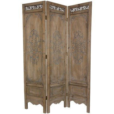 Oriental Furniture Italian/French Style Decorative Screen, 6-Feet Tall Distressed Wood Design Room Divider, 3 Panel by ORIENTAL FURNITURE, http://www.amazon.com/dp/B006J9NPV2/ref=cm_sw_r_pi_dp_mKpesb02P3R7P