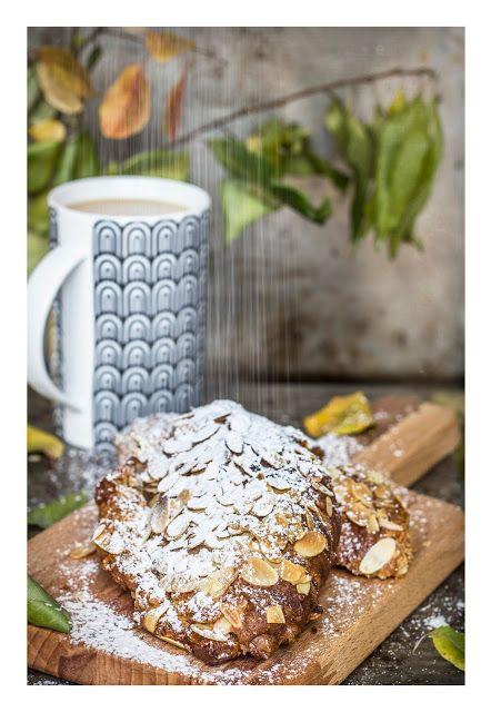 KUCHNIA MIŁOSNA: Rogaliki z kremem migdałowym - croissants aux aman...