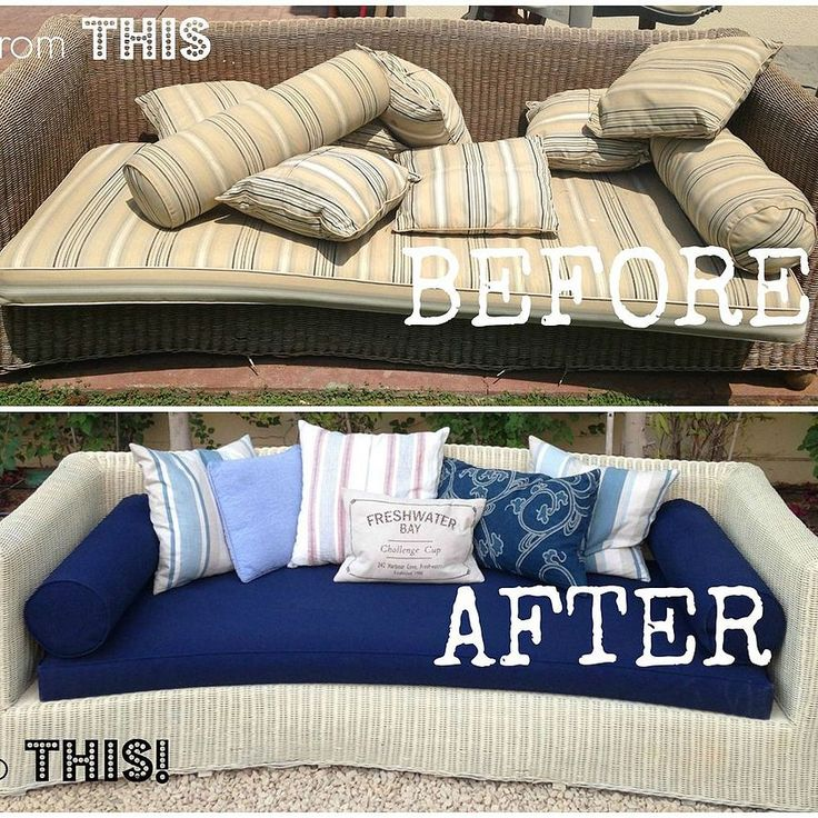 Refurbishing Old Wicker Couches