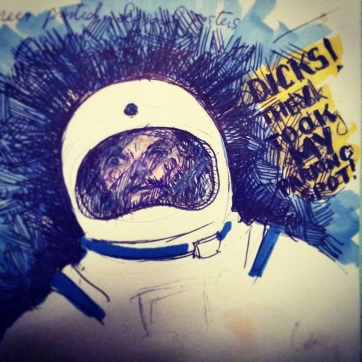 Picked up some markers on the way home. #astronaut #space #mypen #sketch #space