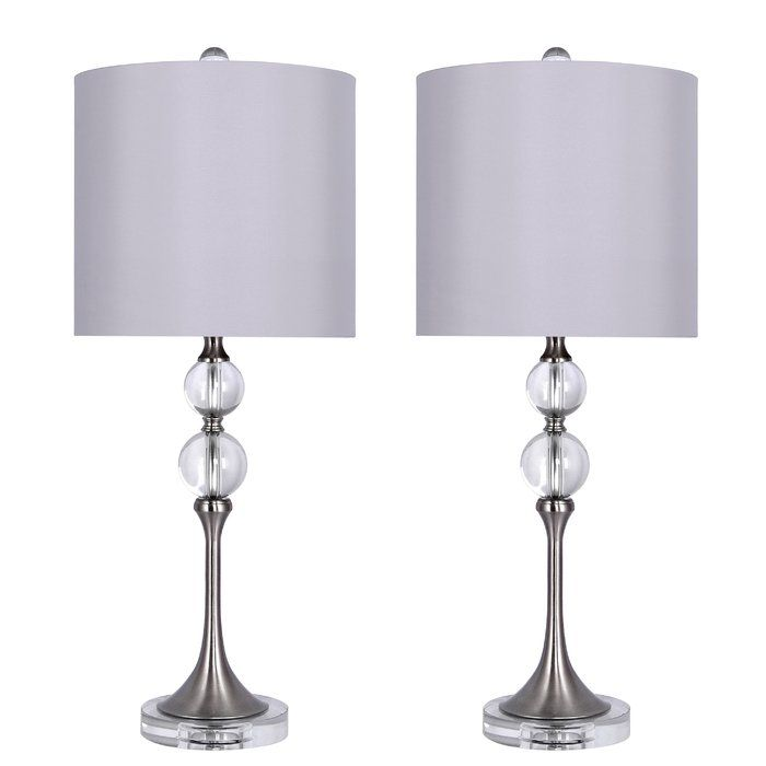 Mcmillin 27 Crystal Table Lamp Set Crystal Table Lamps Table Lamp Sets Lamp Sets