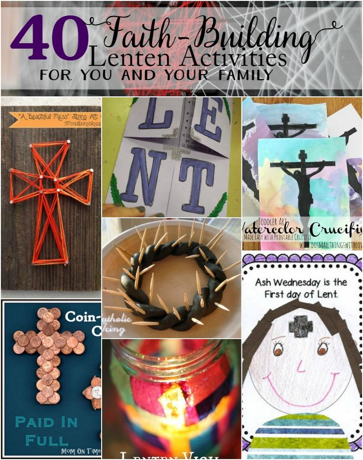 AWESOME ROUND UP Lent is just around the corner. In an effort to prepare I'm sharing 40 Faith-Building Lenten Activities for you and your families today. Lent is an important time around my house–both for me and for my family. Unfortunately I live a life that is really loud and busy and full of distractions. In the end ...