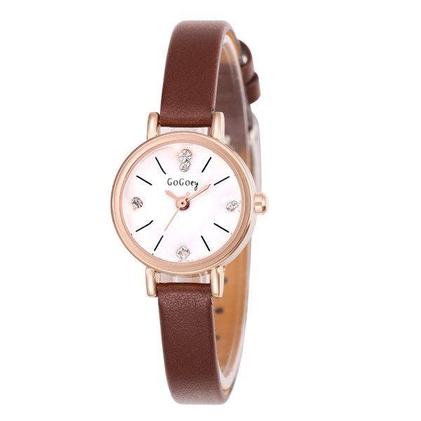 Alta Qualidade Gogoey marca couro assista mulheres senhoras vestido De Cristal de Quartzo Relógio de Pulso Relogio feminino GO053 em Relógios das mulheres de Relógios no AliExpress.com | Alibaba Group