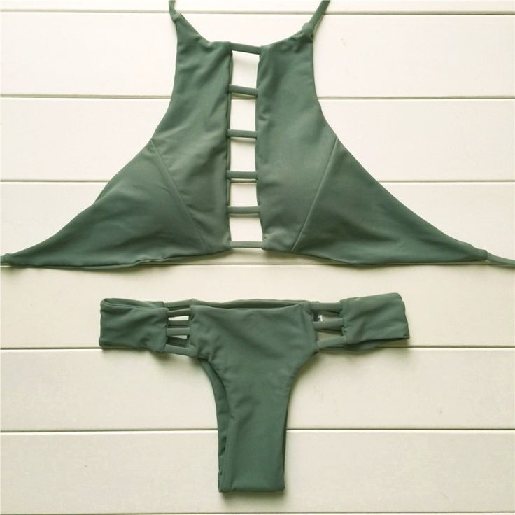 2016 Sexy High Neck Swimwear Reversible Bikini Beach Swimsuit Bathing Suit Strappy Bikini Brazilian Maillot De Bain