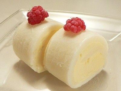切り餅で作る、雪見ロールケーキ