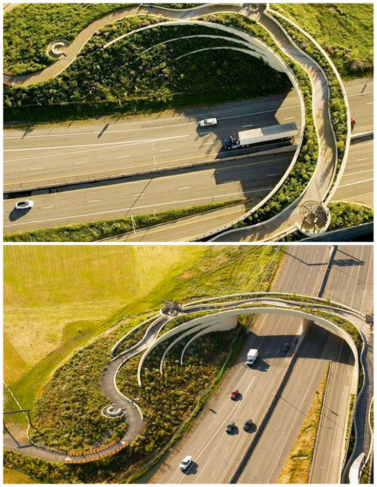 Land bridge at Fort Vancouver, WA. Visit the Slow Ottawa 'Streets for Everyone' board for more people-friendly designs.