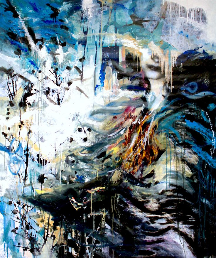 Susanne Wawra, Muttersturm (Mother Storm), 2016, Mixed Media, 119 x 145 cm.