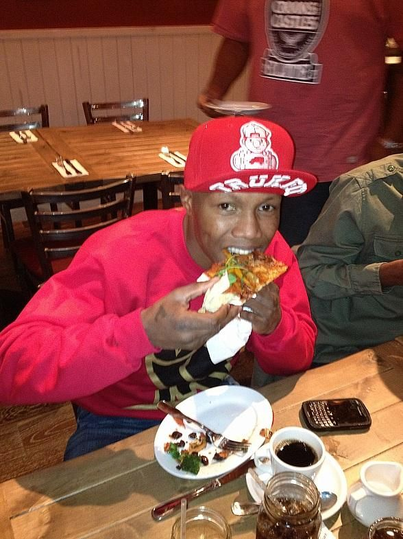 Frank Mir, Zab Judah and Joan Severance Dine at the New Meatball Spot