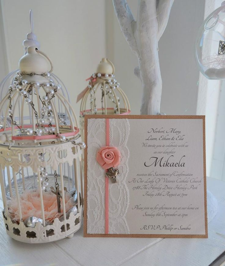 MIKAELA - lace and dusty pink details with silver toned dove