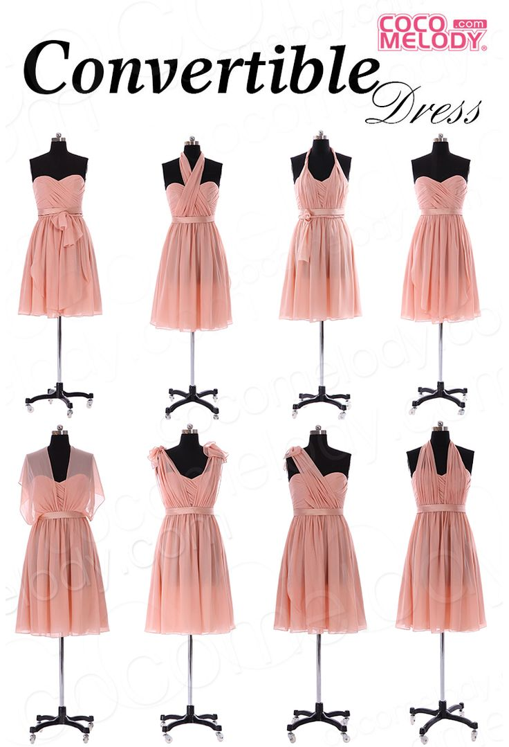 99 best bridesmaid images on pinterest maxi dresses accessories classic a line knee length chiffon convertible bridesmaid dress with sashes and draped streamers cozm14050 ombrellifo Choice Image