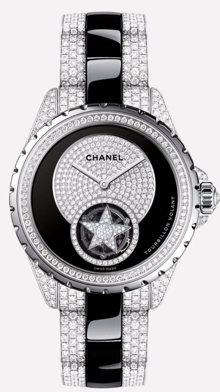 Chanel J12 Flying Tourbillon Watch White Gold And Black