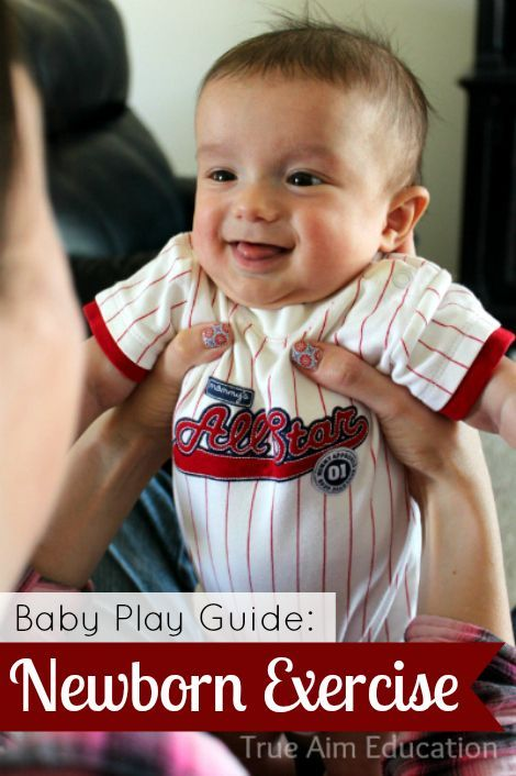 Baby Play Guide: Newborn Exercises - Love the variety of activities!  So cute!
