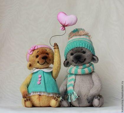 Teddy Bears handmade.  Fair Masters - handmade.  Buy Love is .... Handmade.  Turquoise, Teddy Bear