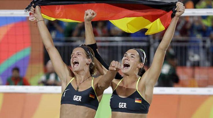 Beach Volleyball - Germany thrash Brazil Laura Ludwig, Kira Walkenhorst, Germany vs Brazil beach volleyball, Beach volleyball, Rio 2016 Olympics, Olympics, Germany Beach Volleyball Gold