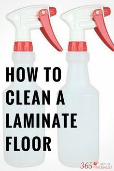 If you've never lived in a home with wood laminate flooring, it can be a little confusing when it comes to cleaning them. This mixture is perfect to clean, sanitize and de-grease without leaving a nasty film on the floor!