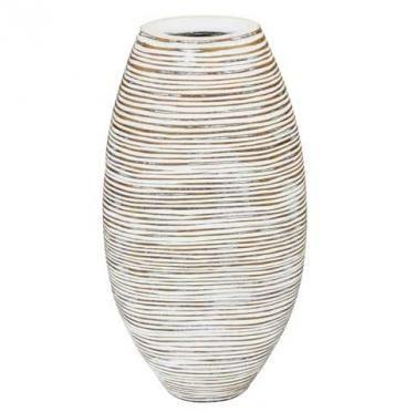 Polyresinová váza v přírodních barvách. Vyrytý vzor.  V interiéru můžete efektně kombinovat s dalšími polyresin výrobky stejného provedení.  Výška: 45 cm