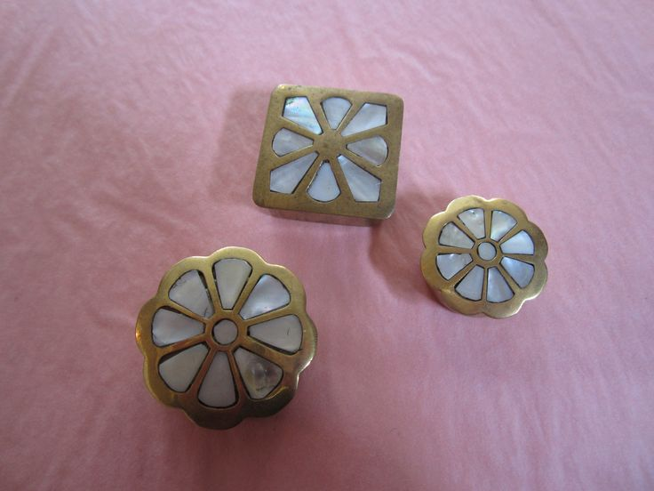 Vintage Trinket boxes with Mother of Pearl inlay