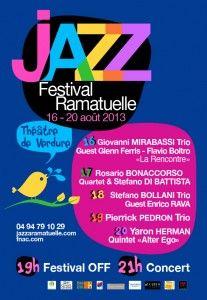 Jazz festival de Ramatuelle. Du 16 au 20 août 2013 à Ramatuelle.