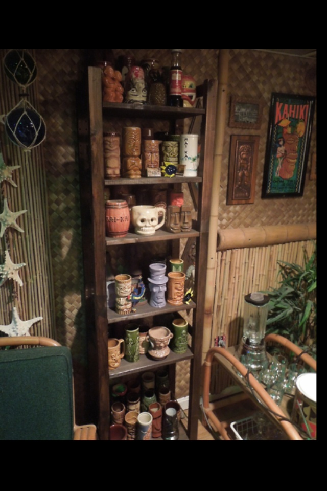 Tiki Mug collection, Vintage Tiki, Tiki Bar, Tiki Decor!