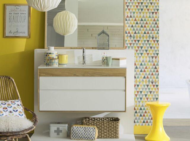 49 best cuisine salle de bain images on Pinterest Baking center - meuble salle de bain marron