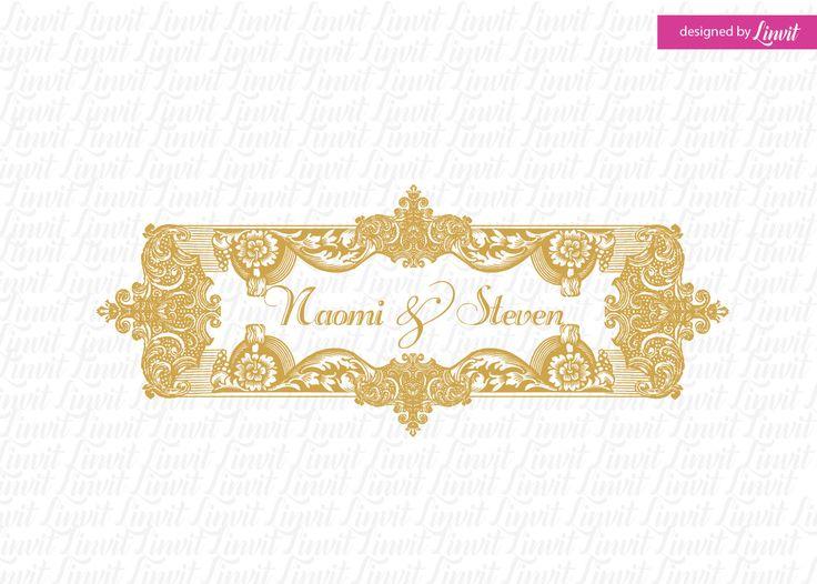 luxury wedding logo-wedding logo-wedding crest-custom wedding monogram-signo-monograma-monograma de la boda-signo de la boda- by Linvit on Etsy