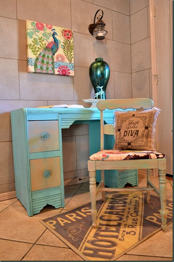 Best 25 Turquoise Painted Furniture Ideas On Pinterest