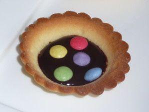 Tarte-chocolat-smarties