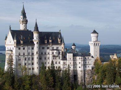 """Neuschwanstein -- The Famous So-Called """"Cinderella Castle"""""""