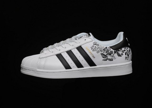 Mens Womens Shoes Adidas Superstar Flower Embroidery CG6407 ...