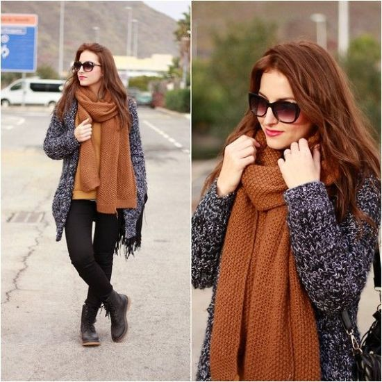maroon knit scarf, What to wear in Thanks-giving day http://www.justtrendygirls.com/what-to-wear-in-thanks-giving-day/