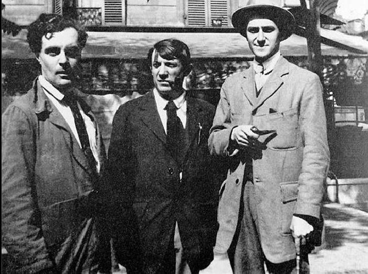modigliani, Picasso et André Salmon au Bateau-lavoir Montmartre