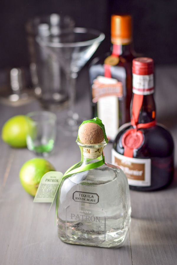 Patron Silver, Cointreau, lime juice, simple syrup and gran marnier used for this ultimate cadillac margarita