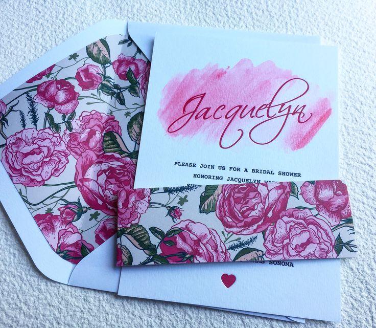 Flower + watercolour invitation