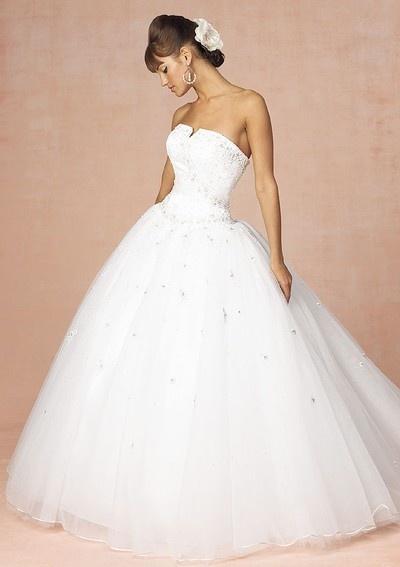 Custom made hot sell simple strapless wedding dresses