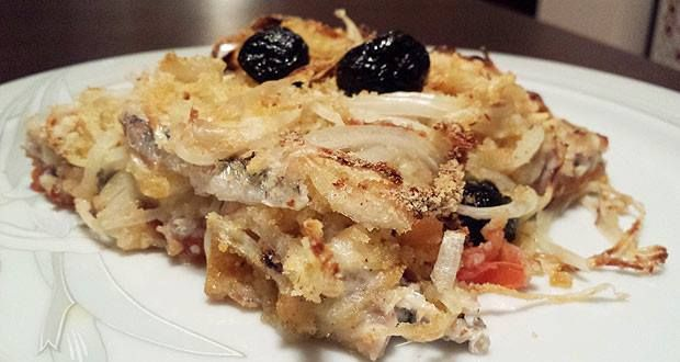 #sicilianfood   Tortino di sardine, patate e cipolle! Una vera delizia per il palato! Sardine, potatoes and onions Pie! So delicious!