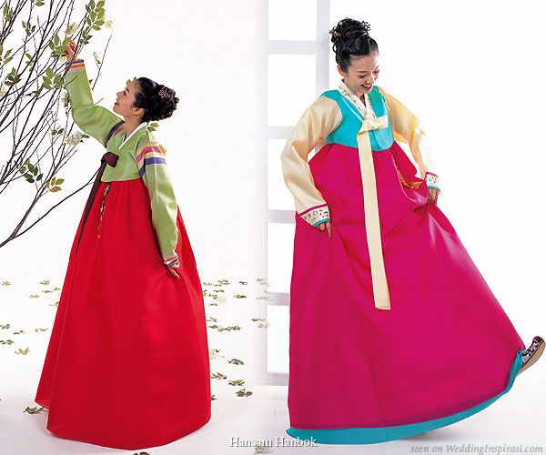 Wedding Dress Color Inspiration — The Korean Hanbok | Wedding Inspirasi