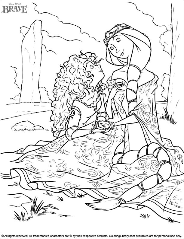 55 Best Images About Brave Disney Coloring Pages On