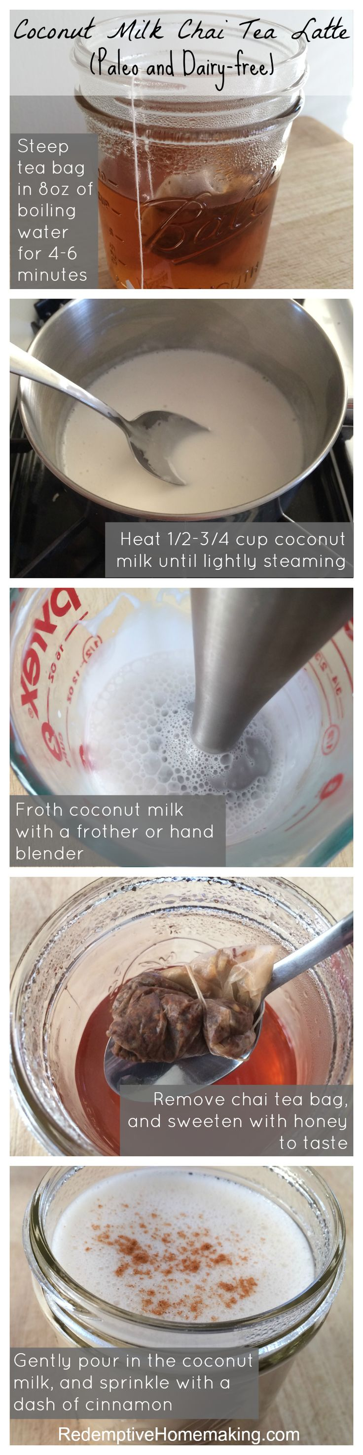 Coconut Milk Chai Tea Latte (Paleo and Dairy-free) - Redemptive Homemaking