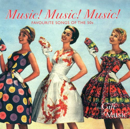 Popular songs: 1950- Music! Music! Music! by Teresa Brewer 1951- Be My Love by Mario Lanza 1952- You Belong To Me by Jo Stafford 1953- That's Amore by Tony Bennett 1954- Sh-Boom by Crew-Cuts 1955- Rock Around The Clock by Bill Haley and the Comets 1956- Tutti Frutti by Little Richard 1957- All Shook Up by Elvis Presley 1958- Tequila by The Champs 1959- Peggy Sue Got Married by Buddy Holly