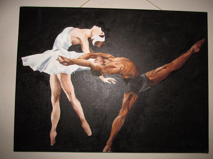 Ballet - Fine Form. Oil on canvas.... Katja, Beginning 2014