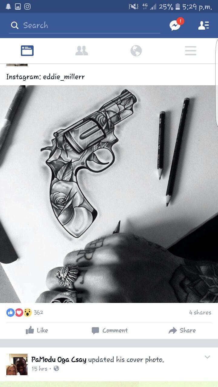 best 25 gun tattoos ideas on pinterest pistol gun tattoos arm tattoo handle and garter tattoos. Black Bedroom Furniture Sets. Home Design Ideas