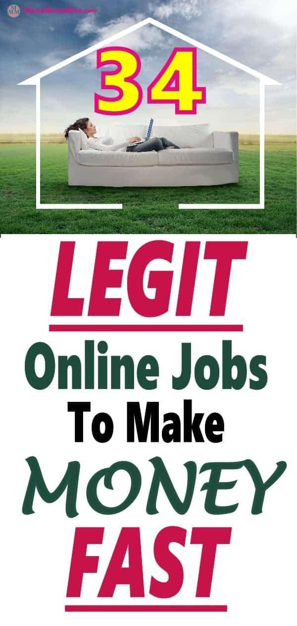 34 Legit Online Jobs To Make Money From Home – Extra money ideas
