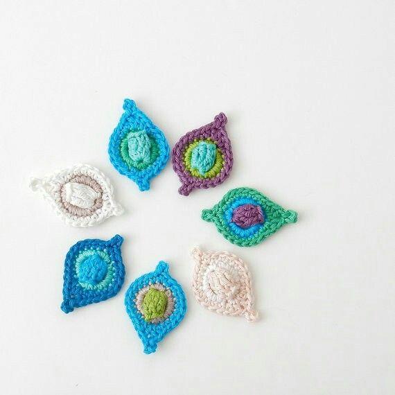 Mejores 40 imágenes de Apliques crochet en Pinterest | Patrones de ...