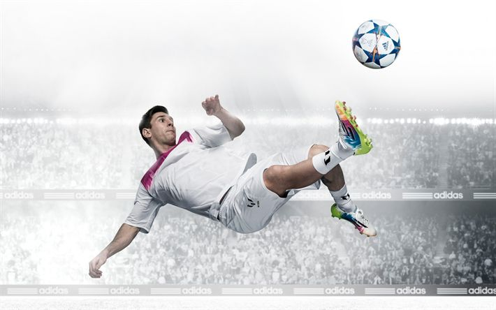 Download wallpapers Lionel Messi, Adidas, football, photoshoot, Argentinian football player
