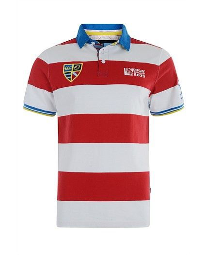 Eye catching rugby jersey from The Rugby World Cup Collection.  100% cotton jersey, with all logos and artwork embroidered. 300gsm.