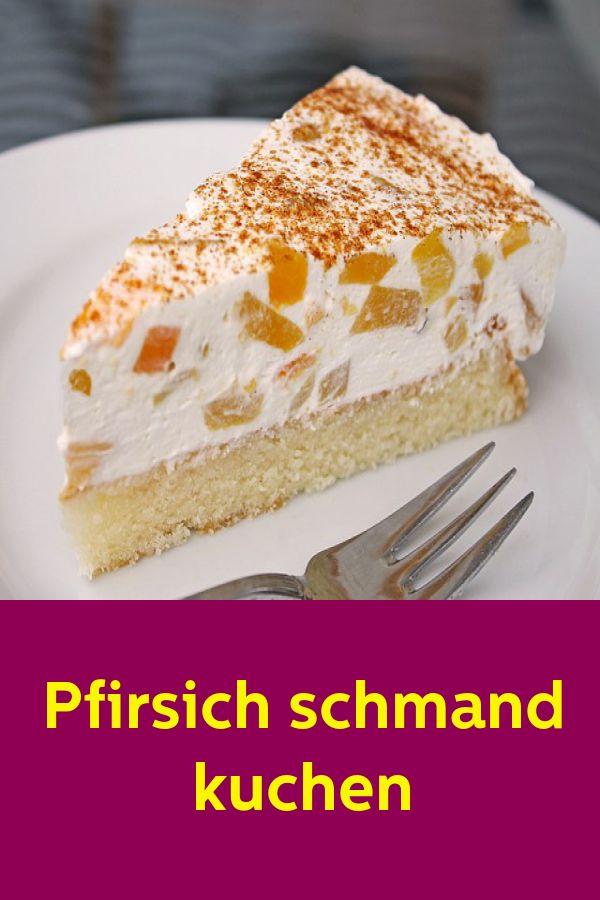 Pfirsich gedünsteten Kuchen   – backen