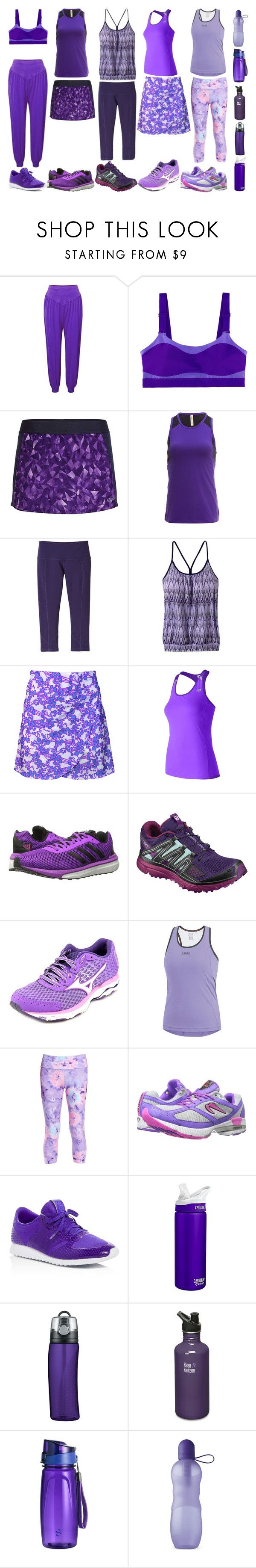 """Purple Sails"" by quinn-avina ❤ liked on Polyvore featuring Icebreaker, Lucy, prAna, New Balance, adidas, Salomon, Mizuno, Gore Bike Wear, Tiny Fish and Newton"