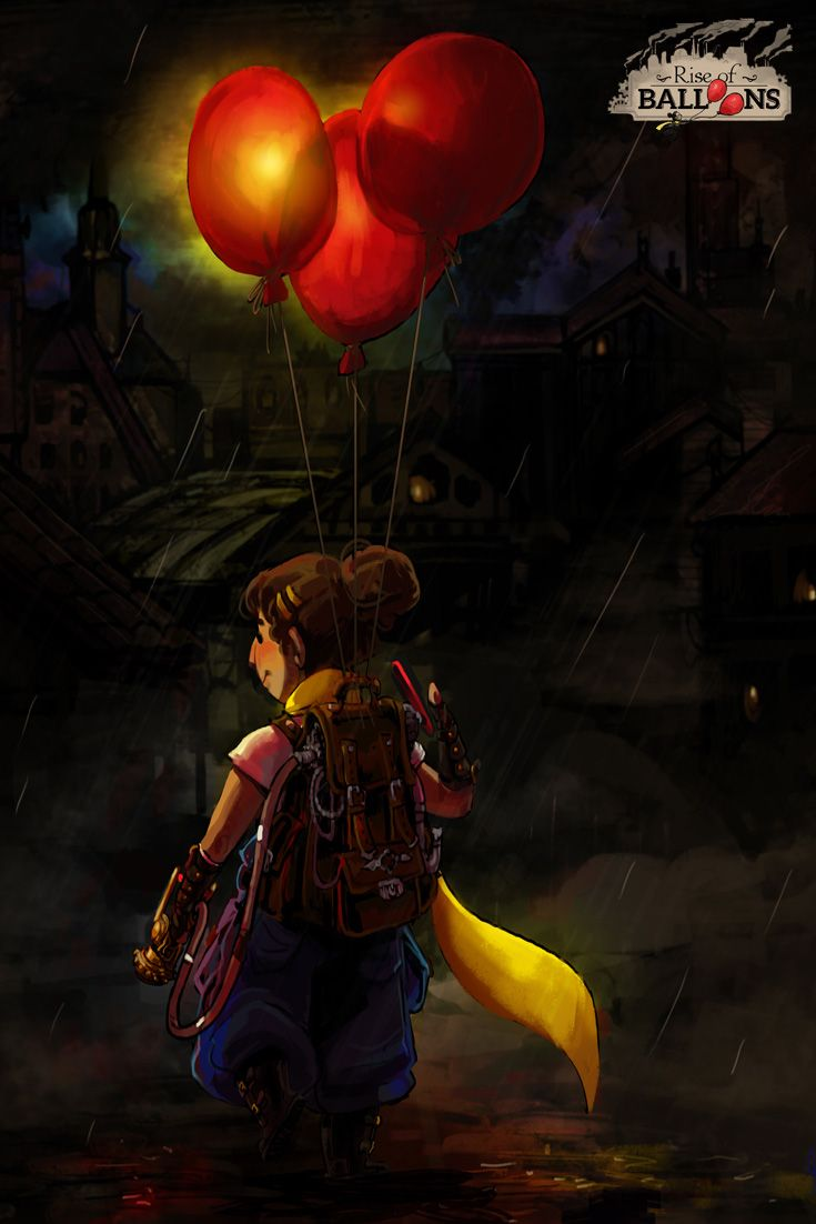 A beautiful art piece of Amael, the hero of Rise of Balloons. Follow us for more!  www.riseofballoons.com #riseofballoons