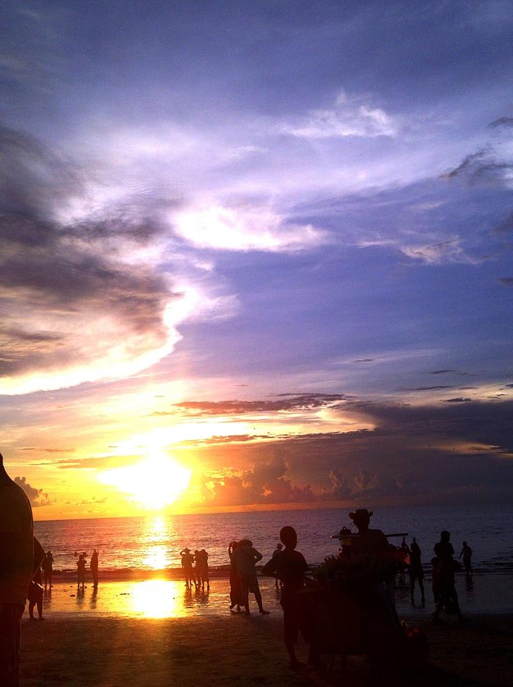 Sunset at Jimbaran, Bali.
